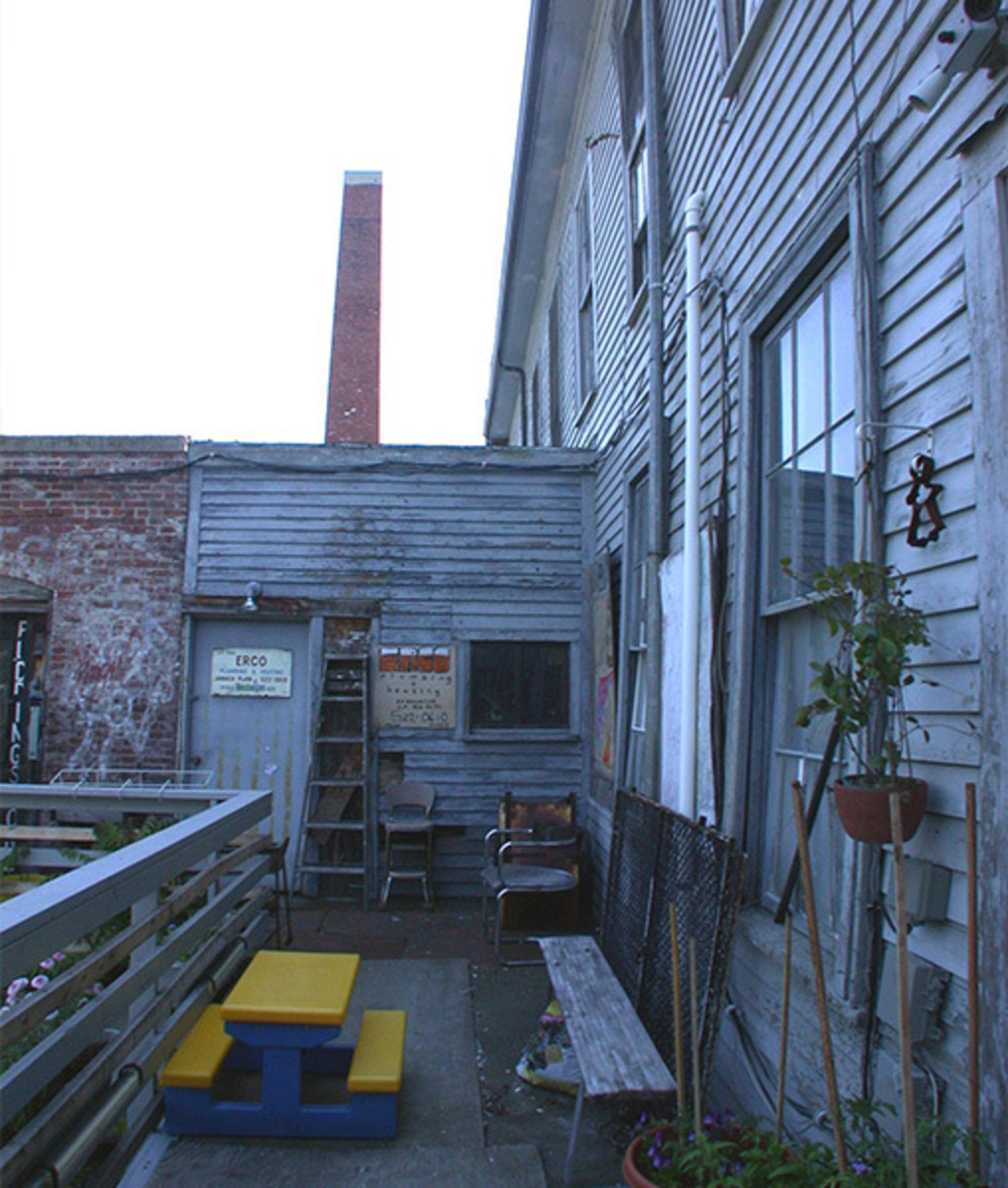 Rear of property after - before